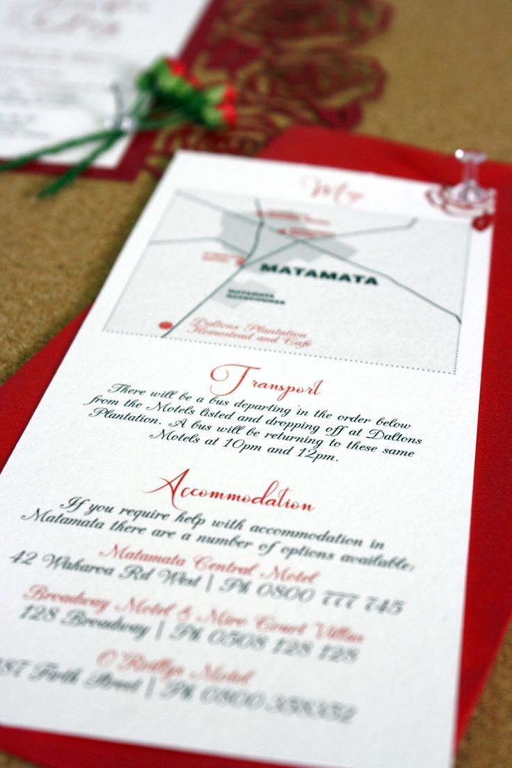 Additional Information Card for Wedding Invitation Designed by Imagine If Creative Studios