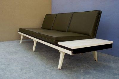 vtg herman miller sofa george nelson mid century modern streamline couch loft. Black Bedroom Furniture Sets. Home Design Ideas
