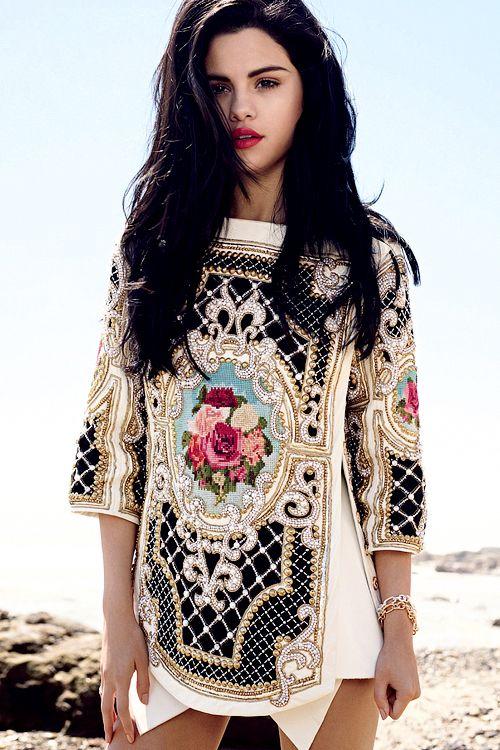 Balmain and Selena Gomez. Baroque and Layers.
