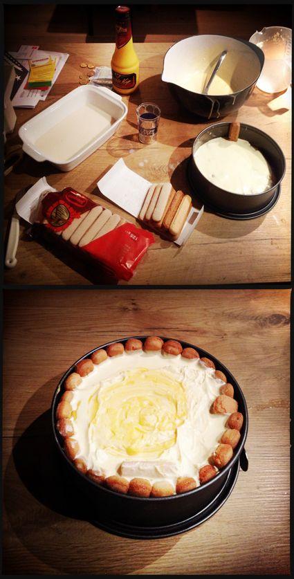 * ADVOCAAT TAART * Creme: - 150 gr witte basterdsuiker - 200 gr planten margarine - 2 zakjes vanille suiker - 2 eieren De creme 10 minuten mixen tot een romig wit mengsel - 2 pakken lange vingers - 1 likeurglaasje rum - 2 dl melk. Lange vingers in melk/rum mengsel dopen. In laagje opbouwen -vingers-creme-advocaat-