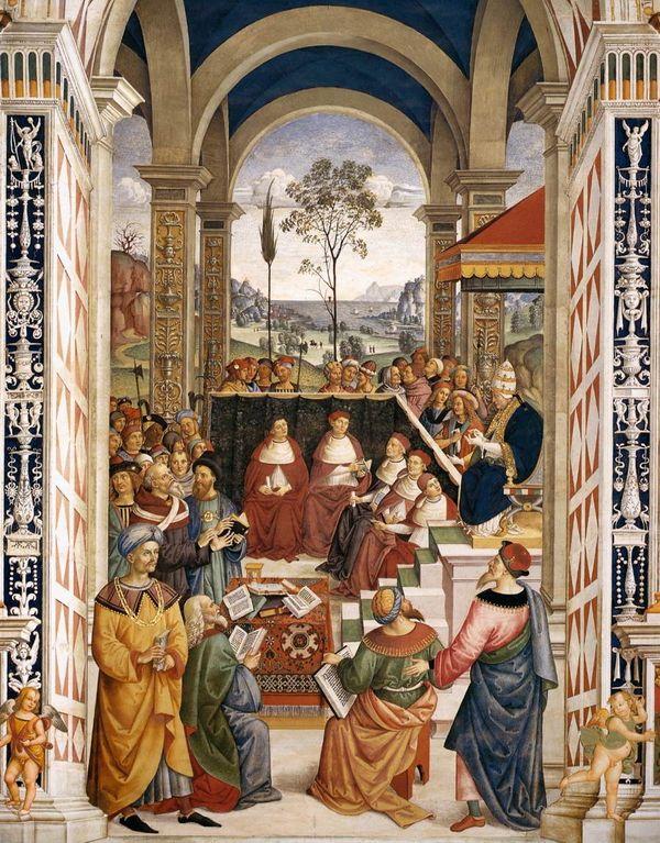 Папа Римский Пий II призывает христианских государей объединиться против турок на соборе  в Мантуе