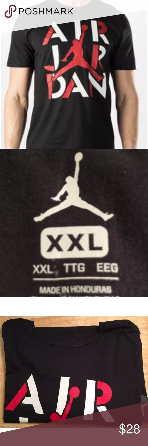 T shirt white brand - Nike Air Jordan Men S Tee Black Red White 2xl New Cool