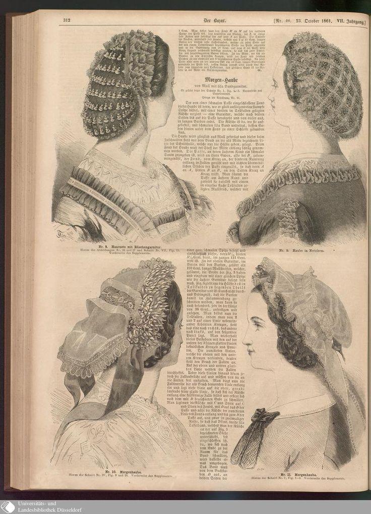 1861 Der Bazar - Page - Digitale Sammlungen - Digital Collections civil war era fashion