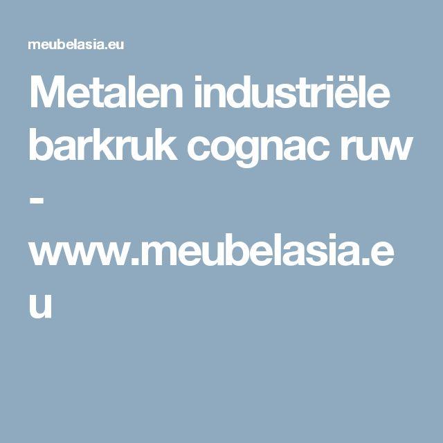 Metalen industriële barkruk cognac ruw - www.meubelasia.eu