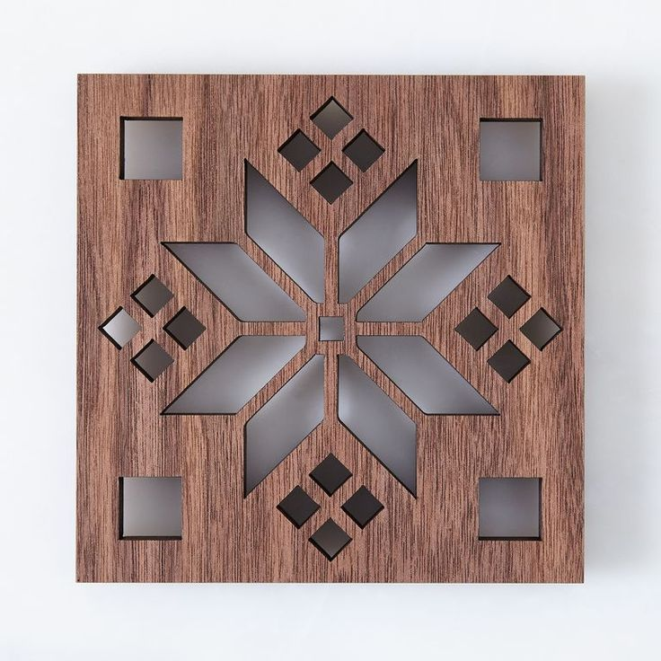 Laser-Cut Walnut Scandinavian Trivet
