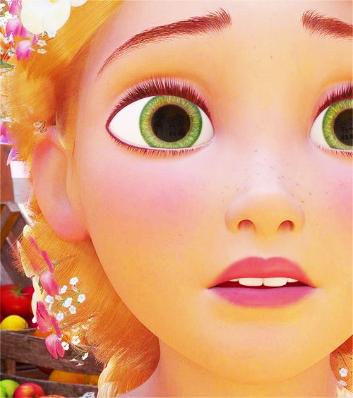 Disney 30 Day Challenge: FAVORITE EYES...Rapunzel's, for once a character has the same eye color as I do! I got very excited to see Tangled when I found out Rapunzel has green eyes...