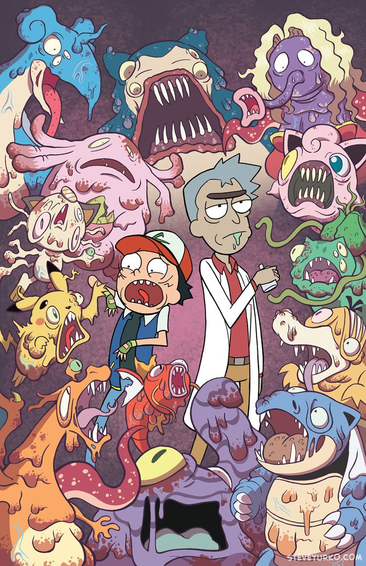 Rick and Morty Pokemon crossover