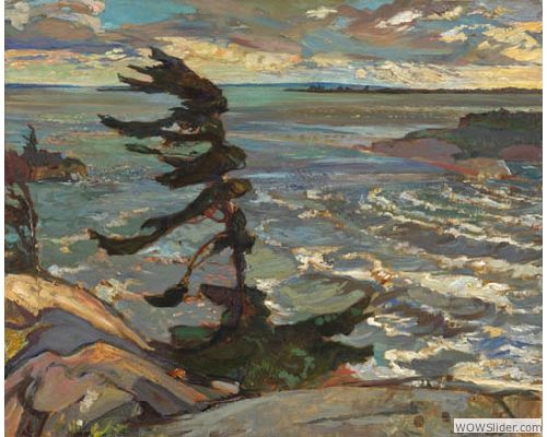 Painting Canada: Tom Thomson and the Group of Seven   Frederick H. Varley, Stormy Weather, Georgian Bay, 1921, Oil on canvas, 132.6 x 162.8 cm, National Gallery of Canada, Ottawa, © Varley Art Gallery, City of Markham