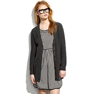 Full skirted dress? Check. Cardigan? Check. Glasses? Check. Even my students would recognize this outfit as me.