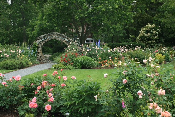 The rose garden blithewold in bristol ri historic for Garden design ideas bristol