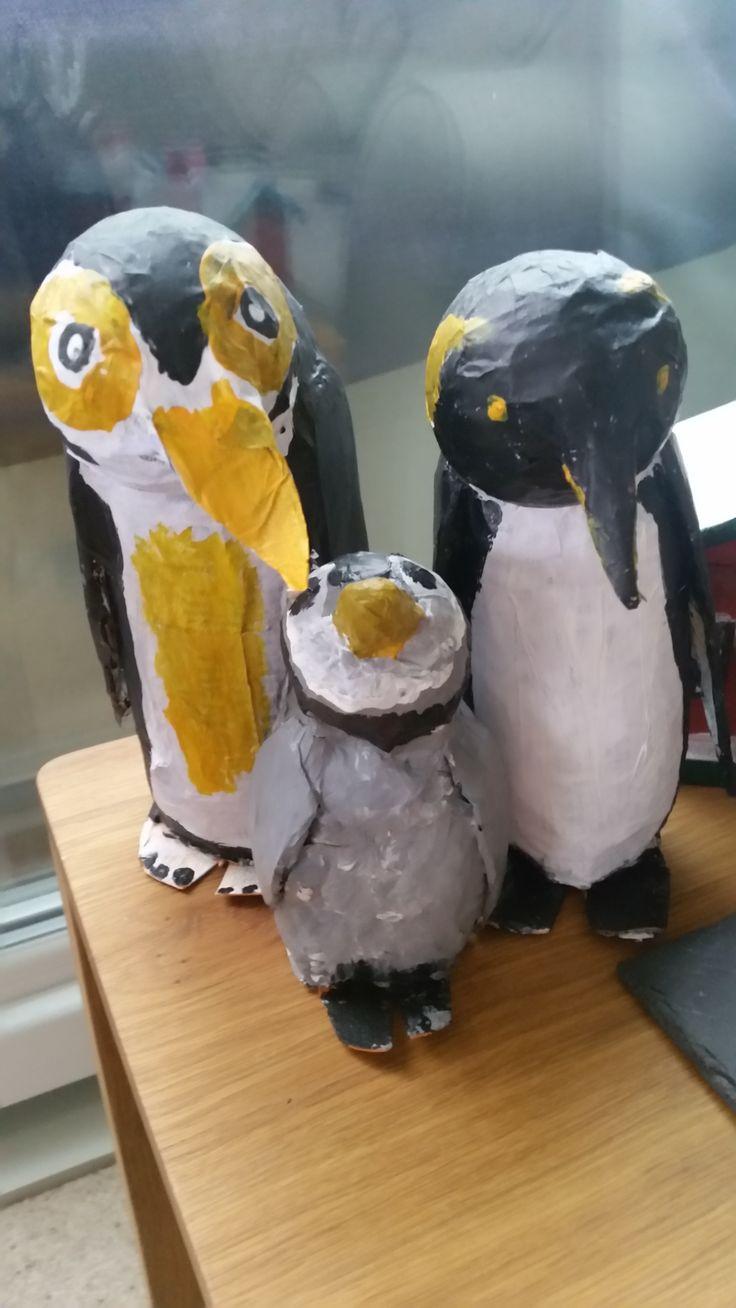 how to make paper mache penguin