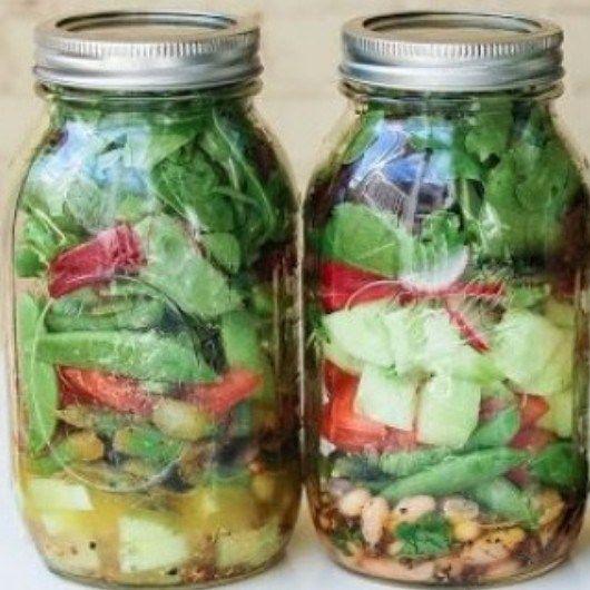 Mijn lunch? Salade in een pot