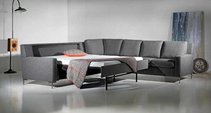 Brynlee Comfort Sleeper Sectional Sofa By American Leather Is Available In A Range Of Leathers