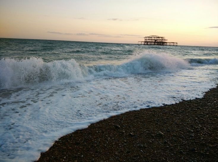 The old burned pier from Brighton