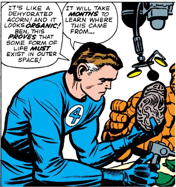 It's funny that after battling the Skrulls making contact with the Watcher and travelling to Planet X this still surprises Reed (FF#20 - 1963)