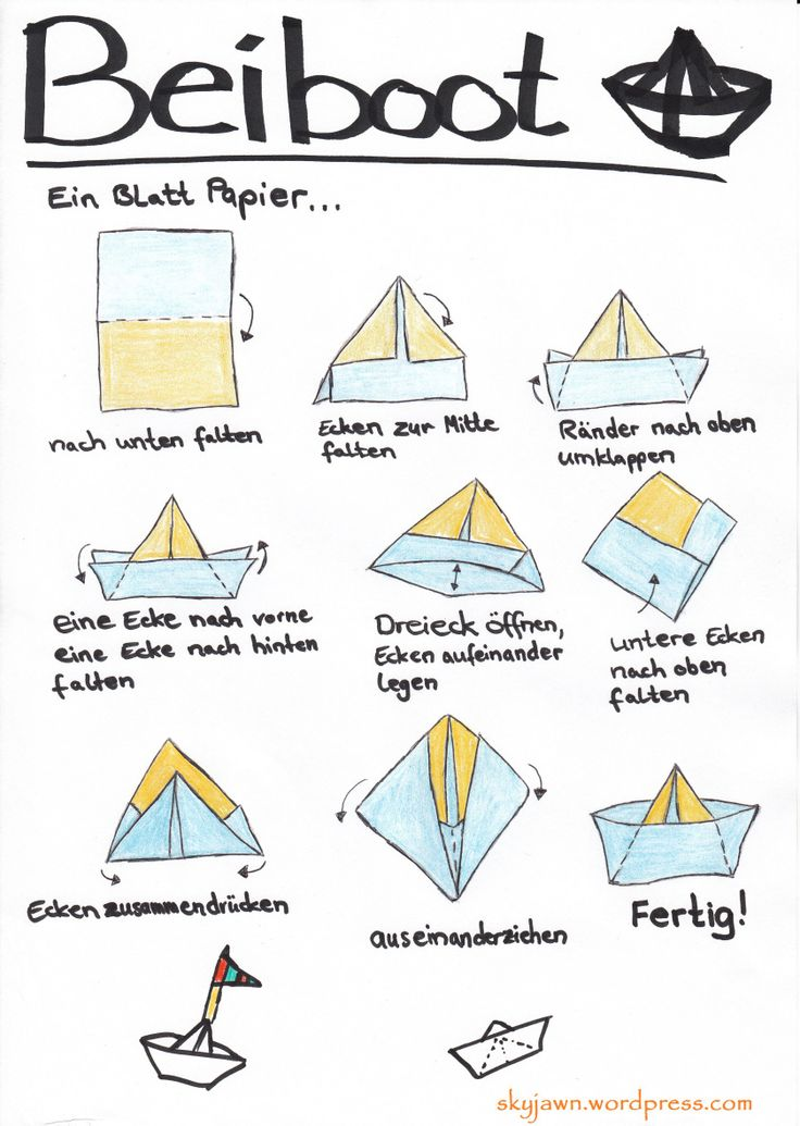 Papierboot falten #papier #boot #falten #Origami #Anleitung #Kinder #Kids #craft  Skyjawn | tippt langsam aber stetig…