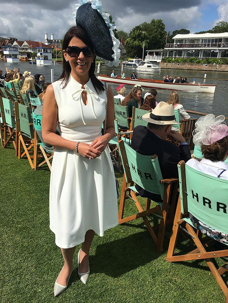 We L-O-V-E how Dr Dawn Harper has styled our Oceana Dress at Henley Royal Regatta #DrDawnHarper