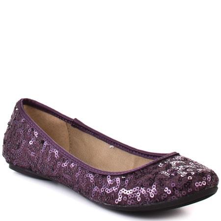 Purple sequin ballet flats!