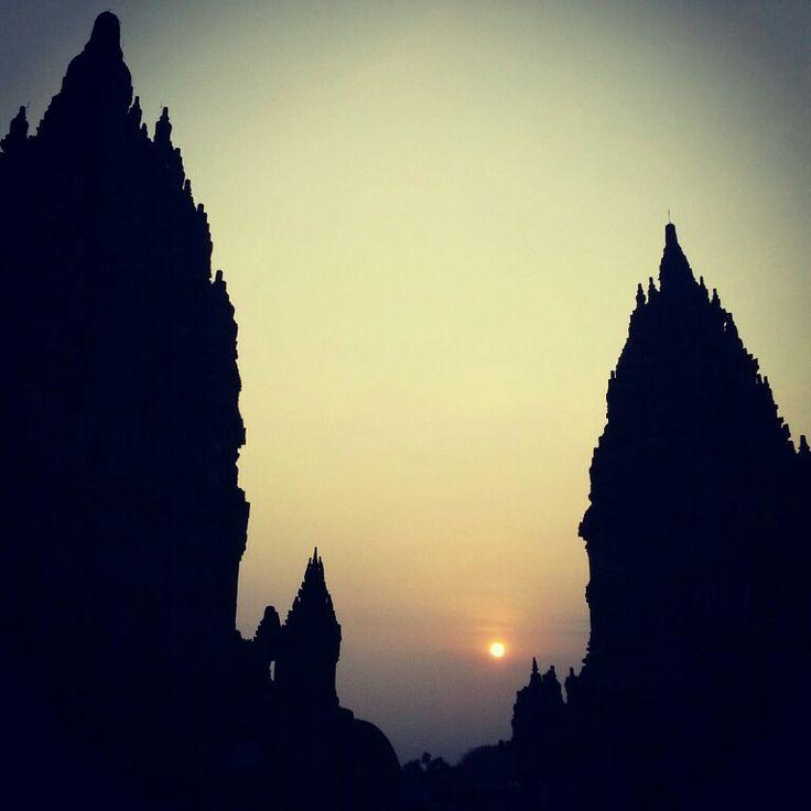 Sunset at prambanan temple #yogyakarta #indonesia #iloveindonesia