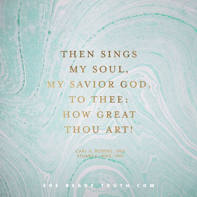 "Text: Psalm 121:1-8, Psalm 145:3-7, 1 Thessalonians 4:16-17 ""How Great Thou Art"" always has a way of undoing me. Something happens to me each time I sing this old hymn, whether singing along with hund"