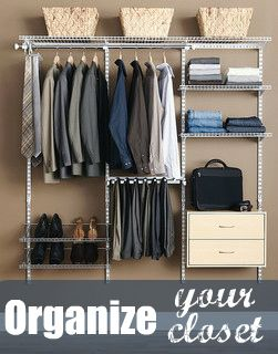 Closet Organization made easy!! I love these tips for getting and staying  organized!