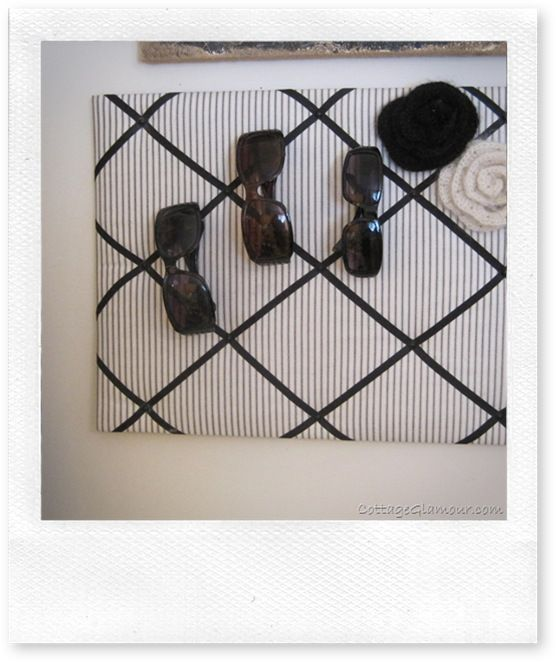 Sunglasses storage. Not sure why I've never thought of this one. Sure would make things easier!!