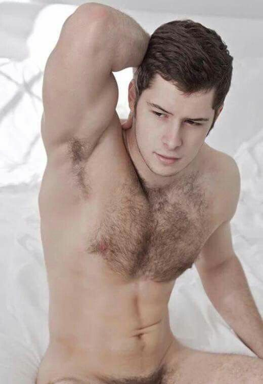 young guy hairy chest trail