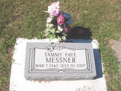 Born Tammy Faye LaValley.  Buried at Waldron Cemetery, Waldron, Harper, Kansas.  Cause of Death - Lung and Colon Cancer