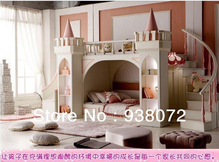 free shipping kids furniture bedroom set bunk bed princess castle children bed 368800 - Shipping Bedroom Furniture