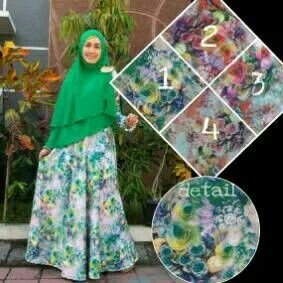 Set Dress syar'i material wedges + Khimar ceruti 2tone,  minat?  Whatsapp 082231217648 pin bb. 2AF652FA