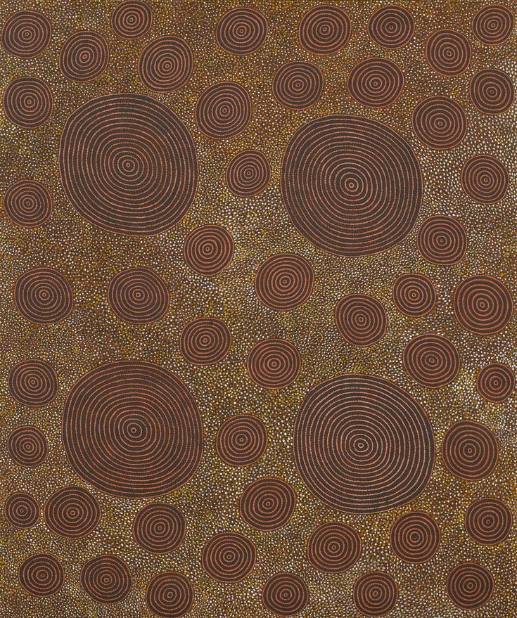 Anatjari Tjakamarra c. 1930-1992 - NGAMINYA, GRANDFATHER'S COUNTRY - Bears artists name and Papunya Tula Artists catalogue number AT890973 on the reverse - Synthetic polymer paint on Belgian Linen 183 by 152 cm