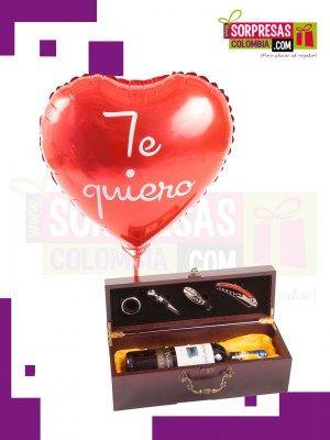 Set De Bar Caja De Lujo Para Vino Sorprende con este especial COMBO CREATIVO que enamorara una vez mas a esa persona especial. Visita nuestra tienda online www.sorpresascolombia,com o comunicate con nosotros 3003204727 - 3004198