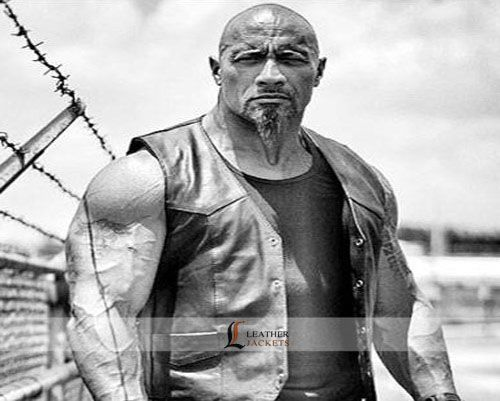 Dwayne Johnson upcoming movie Fast n Furious 8 Leather Vest you can buy this The Rock Vest from LeathersJackets.com and get FREE shipping in USA, Uk and Canada, you can also avail 8% discount for Celebration of 4th July