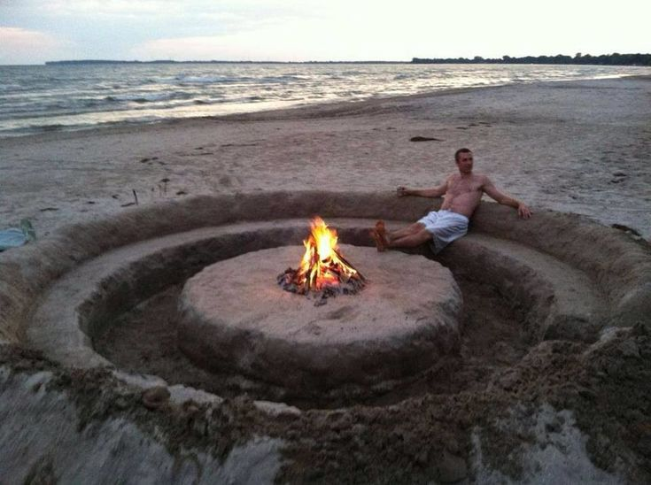 This is brilliant! Summer beach party fire pit in style!