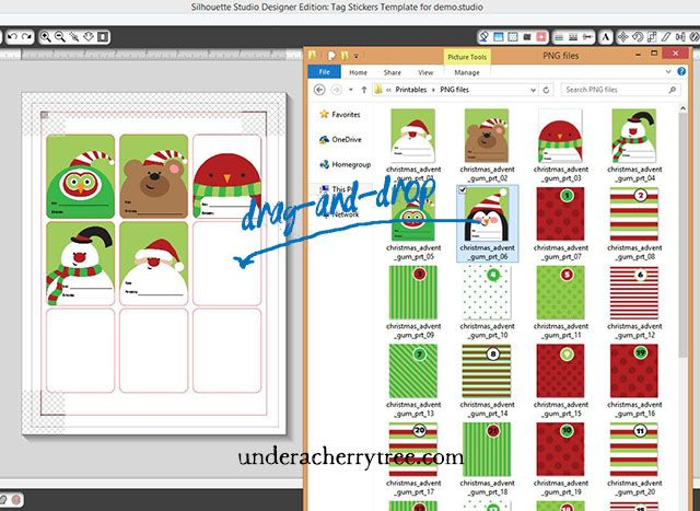 Under A Cherry Tree: TUTORIAL: Quick and Easy {Print-and-Cut} Christmas Tag Stickers