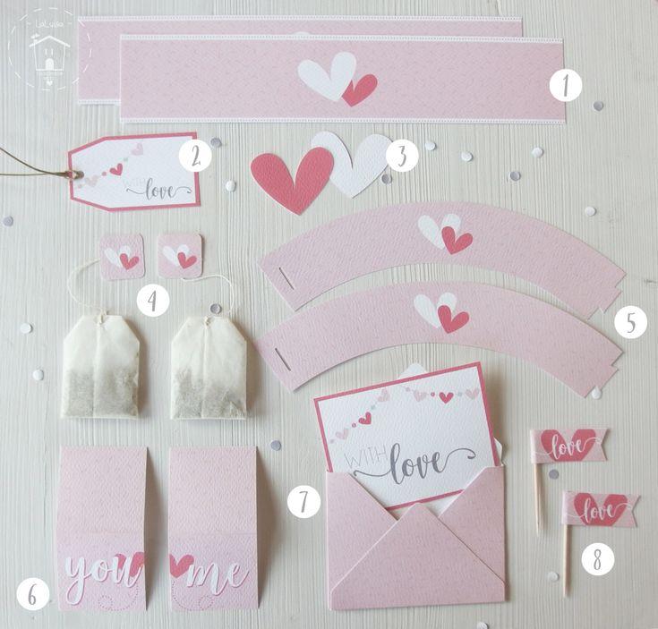 printable di San Valentino per una tavola romantica