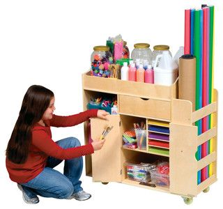 Guidecraft Ulitmate Art Cart - modern - toy storage - other metro - by Children's Organizers