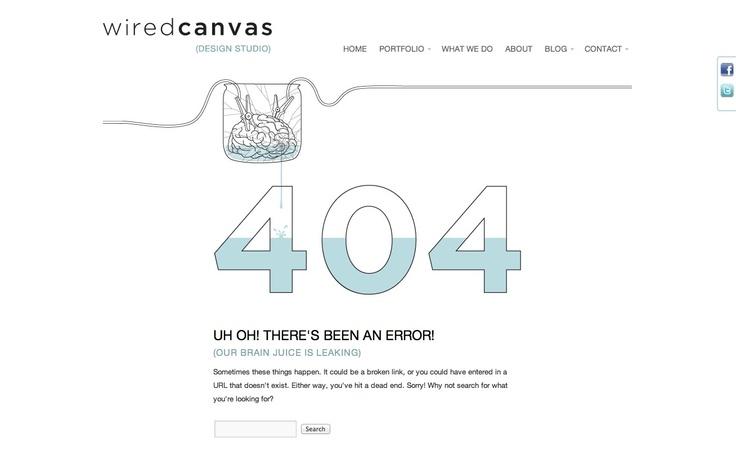 Page not found - Error 404 | Wired Canvas