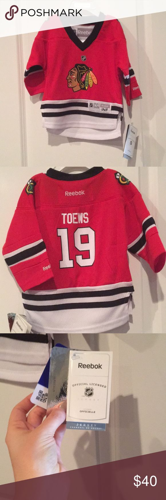 Blackhawks jersey NWT NWT Blackhawks Jersey. 18 months OFFERS WELCOMED Shirts & Tops