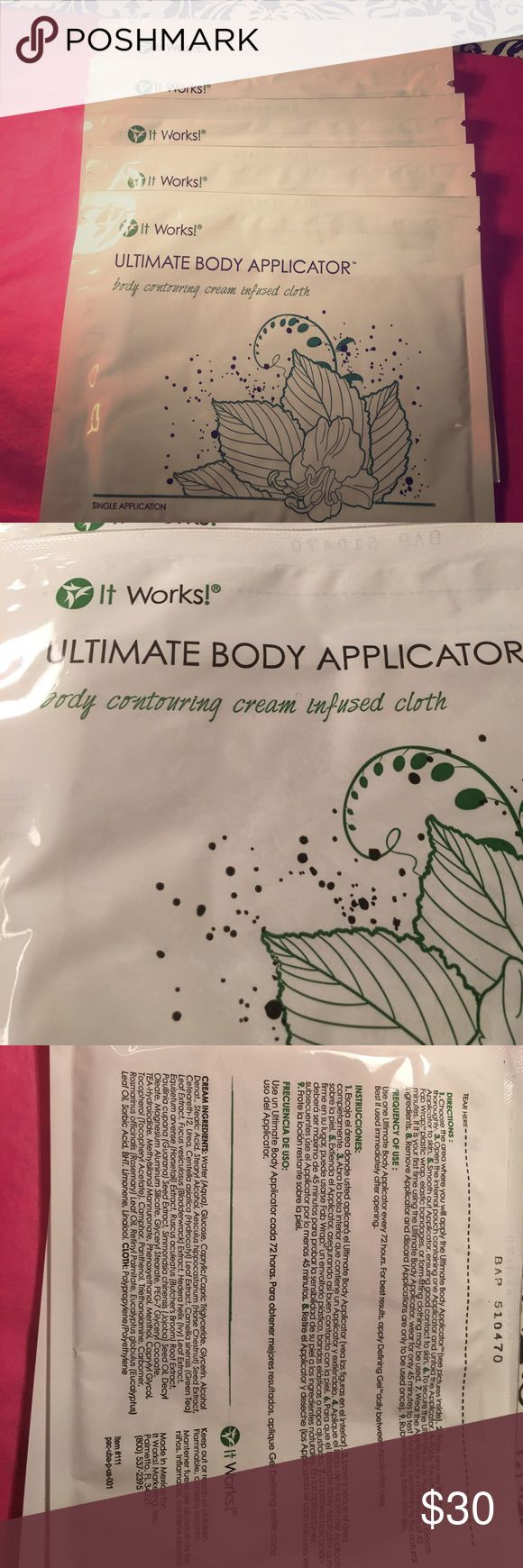 """💚It Works! Ultimate Body Applicator 💚It Works! Ultimate Body Applicator Body Contouring Cream Infused Cloth.         Expect ultimate results in as little as 45 minutes with """"that crazy wrap thing™""""—the Ultimate Body Applicator  💚Tightens, tones, & firms the skin 💚Redefines the appearance of your body's contours 💚Improves skin texture & tightness 💚Mess-free and simple to use Results in as little as 45 minutes Contains botanical extracts it works Other"""