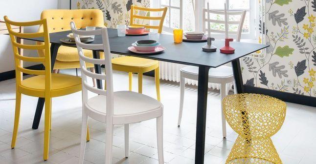 Une déco qui réveille la maison - CôtéMaison.fr Très belle association du gris et d'un jaune lumineux