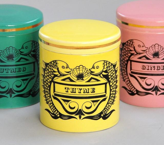 'Dolphin' spice jars by Portmeirion.