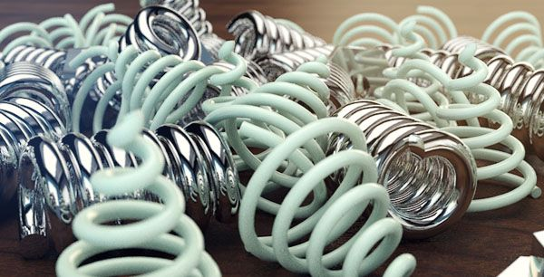 Springs, Coils and Bolts - Replicating a 3D Max Render in Cinema4D