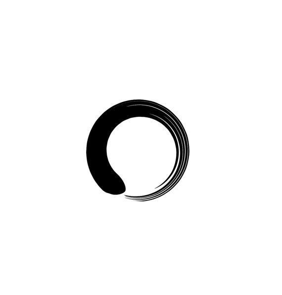 2 Zen Enso Circle Temporary Tattoo, various sizes available Yoga Reiki Small Wrist Finger Ankle