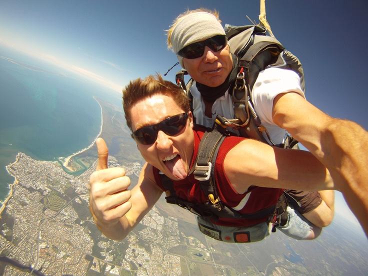 Thumbs Up! Jumping at Sunshine Coast Skydivers, Caloundra, Qeensland.