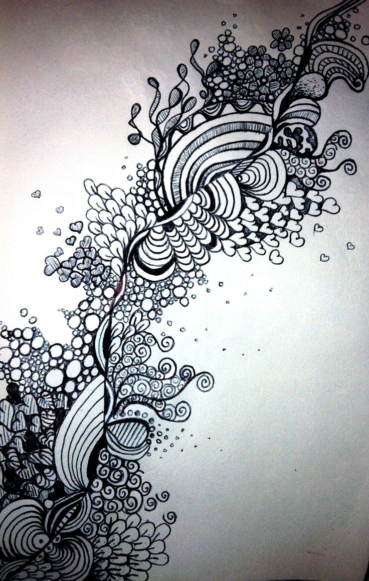 Great contrast work on this ZenTangle