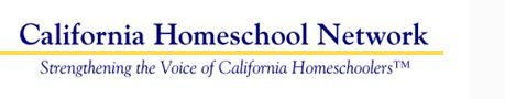 California Homeschool Network- including how to keep private records for your homeschooled child