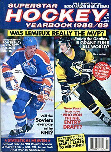 SuperStar Hockey Yearbook 1988-89- Wayne Gretzky Cover Photo