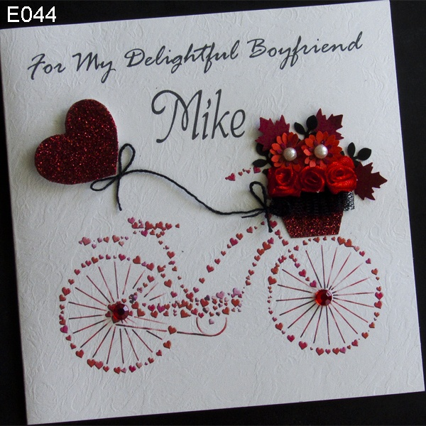 *for her or him Handmade Greeting or Birthday Card*  Unique handmade greeting card themed bike that was made from the heart. Ideal as a gift fo...