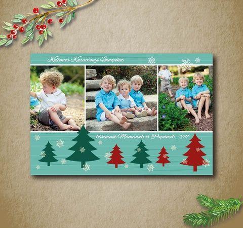 Fényképes karácsonyi képeslap, üdvözlőlap - karácsonyfás (kkreabeaa) - Meska.hu